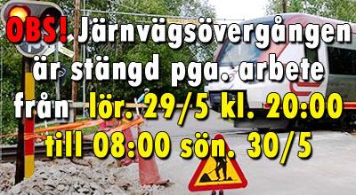Avstängd väg - lör 29 maj